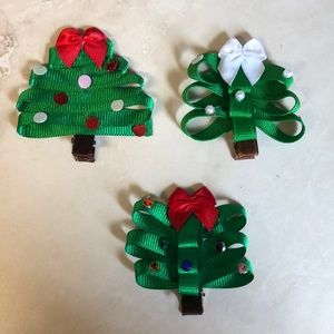 Other - 3 Christmas Tree Barrettes